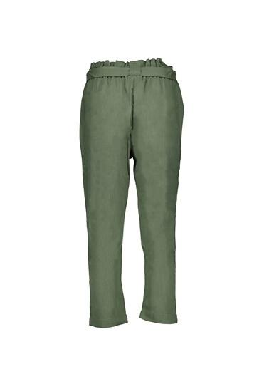 Collezione Haki Kadın Dokuma Basıc Pantolon Haki